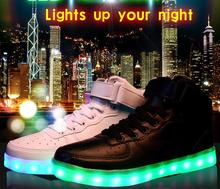 High quality high top adults sneaker led shoe (new arrival)