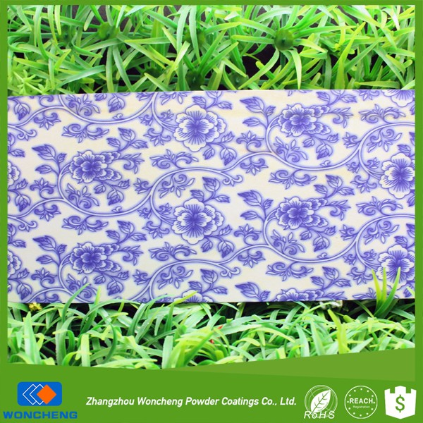 Sandy texture traditional blue and white porcelain powder coating sublimation