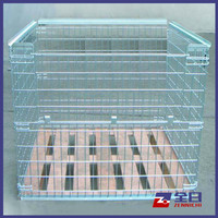Foldable Warehouse Industrial storage heavy duty galvanized wire mesh container