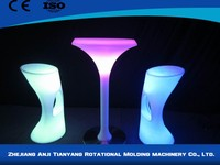 Colorful plastic rechargeable led kitchen bar chair
