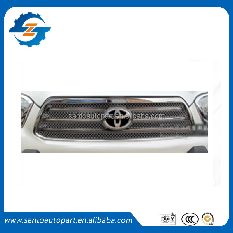 Hot sale!! auto accessories stainless steel UP grill car 6 PCS front grill for Toyo-ta Highlander 2009 2010 2011