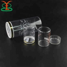 Food Grade Custom Clear Hard Cylinder Small PET Plastic Packaging Boxes