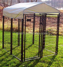 6x4x4' powder coated welded dog kennel fence panel with enclosure