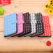 High Quality Mobile Phone Wallet Leather Case Case/Cover Multi-Color Wave Point PU Leather Case for Blackberry Z10