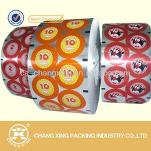 Food grade heat sealing film for PET/PE/PS/PP cups/trays