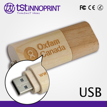 Promotional Custom Print Wooden Memory Flash Stick