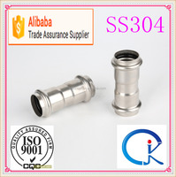V Type Stainless Steel Equal Coupling Pipe Fitting