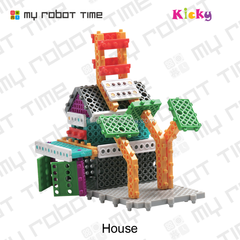 High quality DIY plastic toy kits house toy for kids assembling
