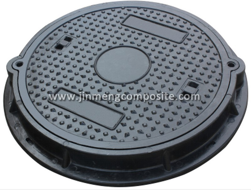 300mm SMC Manhole Cover EN124 /Composite Manhole Cover & Frame with Seal Ring & Lock C250