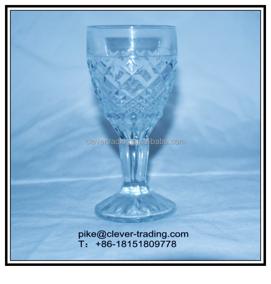 70ml cheap glass goblet/candle holder glass goblet