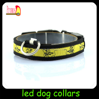Dog favor cheap Lighted LED collars for pets