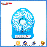 Hottest and newest beautiful small LED alarm usb clock fan with big wind