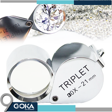 Best selling jewelry loupe 30x/40X magnifier mini triplet jewellery magnifier