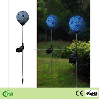 mosaic glass ball led solar lawn lighting for garden yard decoration