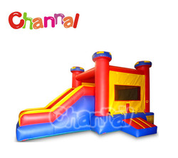 Kids party Inflatable red and yellow castle slide combo