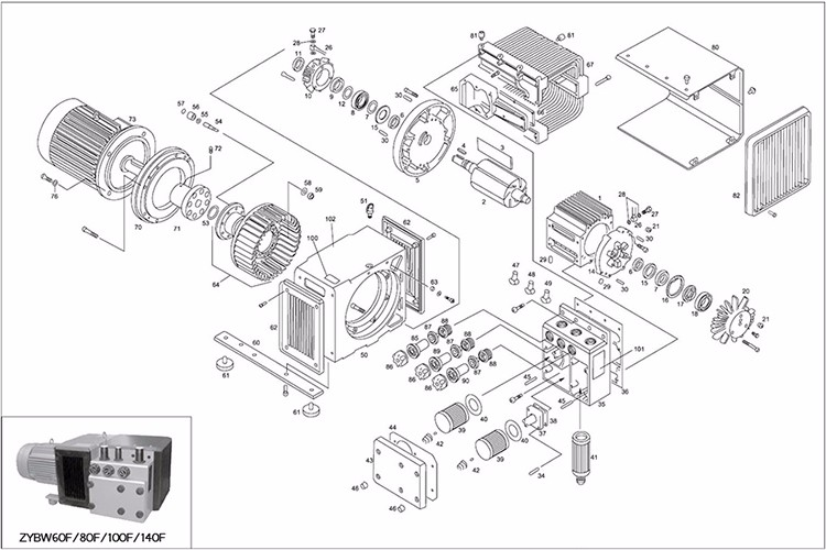 top grade rotary vane fuel pump vacuum pump