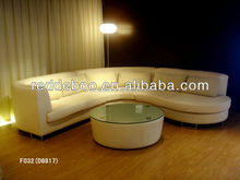 Low price corner sofa with tea table, soft back rest sofa furniture selling abroad