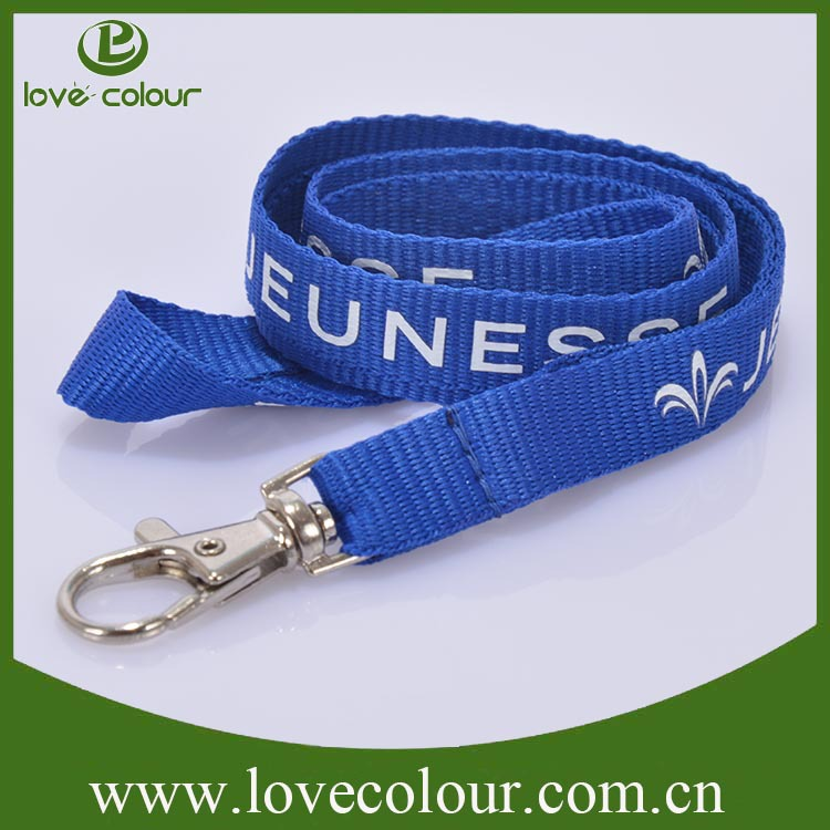 Cheap new custom polyester silk screen printing lanyard from lovecolour