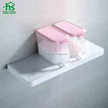 simple design hot selling wall mount single shelf board for bathroom or kitchen