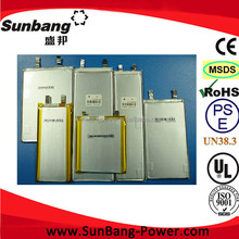 Customzation Design voltage /capacity to flat cell lithium ion battery ,3.7V ~14.8V