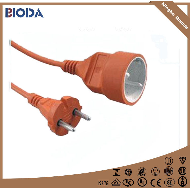 VDE PVC Jacket and Copper Conductor Material Germany power Extension Cord
