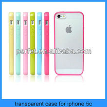 Tpu Gel Bumper With Matte PC Transparent Clear Hard Case Back Cover for iPhone 5c(PT-I5C210)