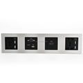 Hotel HDMI VGA Audio and Double USB Socket Smart Media Hub