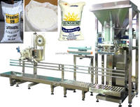 milk powder packing machine with conveyor and sewing machine