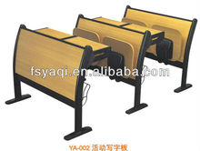 Commercial folding teacher desk and chair wooden school furniture (YA-002)