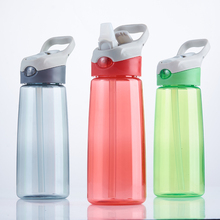 600ml BPA free Promotional Outdoor Sports Plastic Water Drinking Bottle Tritan with silicone straw