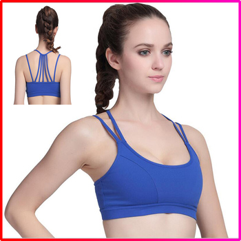High Quality Cross Back Comfort Sports Yoga Bra with Removable Pads