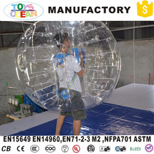 high quality durable human inflatable body bumper bubble ball for adult