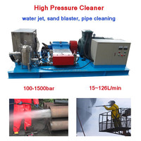 100-1500BAR water jet power pipe sewer drain condensor industrial pressure washers