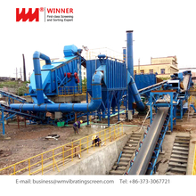 Construction solid waste treatment and disposal waste sand recycle system
