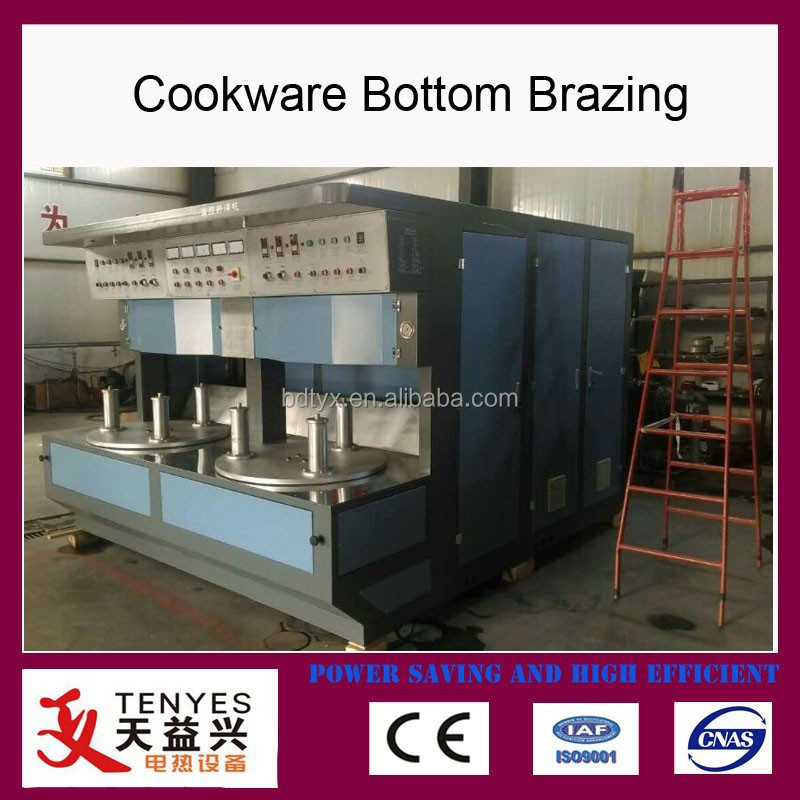 vacuum tube cookware utensils bottom brazing machine manufacturer