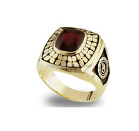 Gold Plated and Ruby stone custom Corporate Rings jewelry