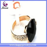 Newest arrival high quality 18k gold plated with crystal gold ring hallmarks PGR001