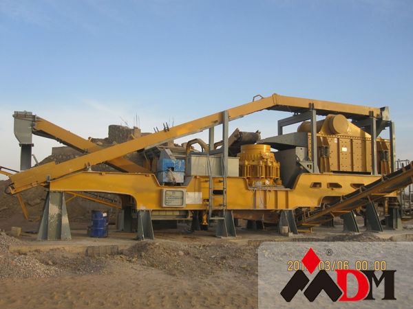 China Top 1 mobile crushing plant track bwm 130 certified by CE ISO GOST