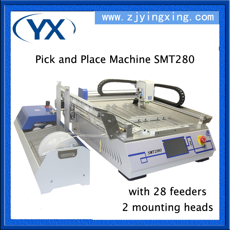 Electronic Components SMT Desktop Pick and Place Machine SMT280 With 28pcs and JUKI Nozzle