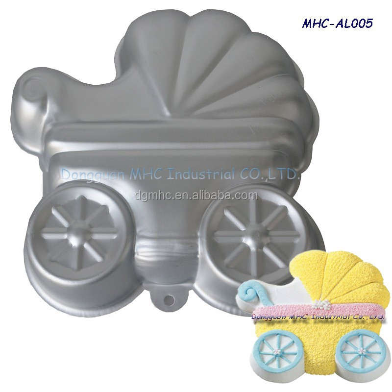 cartoon cargon shaped cake mold, 3D aluminium baking tin for oven and microwave