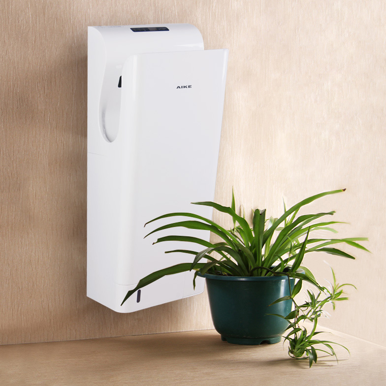 Dual Jet Airflow Toilet Hand Dryer with Led Screen