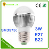 alibaba express hot sale High quality aluminum e27/b22 super bright 3w led light bulb e27 with CE and RohS