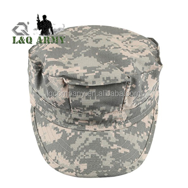 Men's Cadet Army Cap Hat Basic Everyday Military Style Hat Outdoor Plain Camo Tactical Army Military Cadet Cap