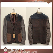 New design fitted jacket wool blazer men slim casual