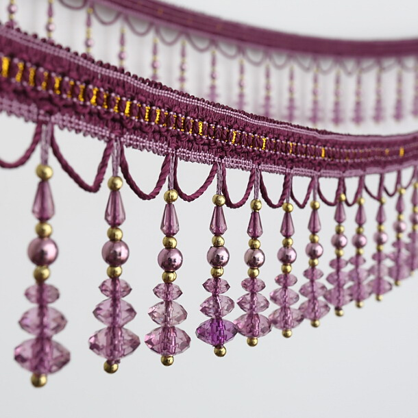 Tassel Type Beaded Curtain Fringe For Home Textile, Curtain, Garment, Decorative Use
