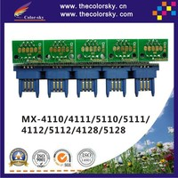 (TY-MX51) reset laser printer toner chip for Sharp MX5112 MX4128 MX5128 MX 4110 4111 5110 5111 4112 NT GT kcmy (40k/18k pages)