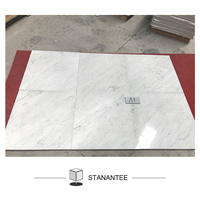 Italy polished carrara white modern home corridor passage marble floor design