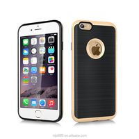 High quality brushed TPU cover hard PC bumper case for iphone6 cell phone cases