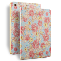 cute designs china case for iPad Air 2, flower front and back case for ipad air