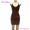 Drip shipping brown backless harness women summer hot club sexy bodycon dress